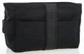 Luxury Accessories:Accessories, Hermes Black Leather & Cotton Toiletry Kit Travel Bag with Palladium Hardware. ...