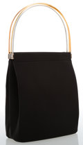 Luxury Accessories:Bags, Cartier Black Canvas Trinity Bag with Tricolor Hardware. ...