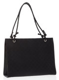 Luxury Accessories:Bags, Gucci Black Monogram Canvas Tote Bag with Braided Leather Straps ....