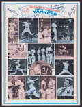 Baseball Collectibles:Photos, 1977 New York Yankees Team Signed Poster - 22 Signatures!...
