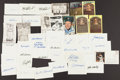 Baseball Collectibles:Others, Baseball Greats Signed Index Cards, Etc. Lot of 41....