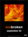 """Movie Posters:Rock and Roll, Nine Inch Nails: Broken (Interscope, 1992). EP Poster (24"""" X31.5""""). Rock and Roll.. ..."""