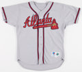 Baseball Collectibles:Uniforms, 1996 Terrell Wade Game Worn Atlanta Braves Jersey. ...