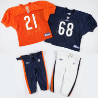 2003 and 2005 Chicago Bears Practice Worn Uniforms (Two Pants and Two Jerseys)