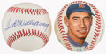 Baseball Collectibles:Balls, Ted Williams Baseballs Lot of 2 (One Original Art Ball and OneSigned)....