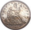 Proof Seated Half Dollars, 1865 50C PR64 PCGS....