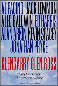 """Glengarry Glen Ross (New Line, 1992). One Sheets (2) (27"""" X 40"""" & 27"""" X 41"""") DS 2 Styles. Drama..."""