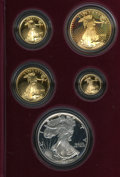Proof Sets: , 1995-W 10th Anniversary American Eagle Set Including the Silver Eagle. The key date 1995-W proof silver eagle is included, a... (Total: 5 Coins)