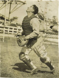 Autographs:Index Cards, Circa 1929 Mickey Cochrane Signed Large Photograph to Tony Lazzeri. Direct from the estate of the Hall of Fame New York Yan...