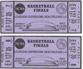 Basketball Collectibles:Others, 1982 NCAA Basketball Finals Full Tickets Lot of 2. A history ofclutch performances on the Big Stage began this day for a N...