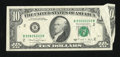 Error Notes:Foldovers, Fr. 2028-B $10 1988A Federal Reserve Note. Very Fine.. ...