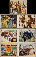 """Movie Posters:Documentary, Dangerous Journey (20th Century Fox, 1944). Title Lobby Card & Lobby Cards (6) (11"""" X 14""""). Documentary.. ... (Total: 7 Items)"""