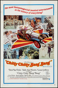 """Chitty Chitty Bang Bang (United Artists, 1969). One Sheets (2) (27"""" X 41"""") & Cut Pressbook (8 Pages, 13&qu..."""