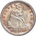 Seated Quarters, 1853 25C Arrows and Rays MS65 PCGS....