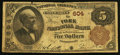 National Bank Notes:Pennsylvania, York, PA - $5 1882 Brown Back Fr. 467 The York NB Ch. # 604. ...