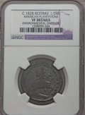 (c. 1828) TOKEN American Plantations 1/24 Part Real, Restrike -- Environmental Damage -- NGC Details. VF. NGC Census: (0...