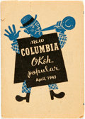 Miscellaneous:Catalogs, Columbia/Okeh Records Catalog, April, 1943. Small pamphlet, folded.Measures approximately 5 x 3.5 inches. ...