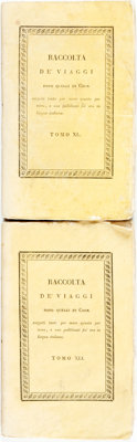 [Featured Lot] Mollien, G. (Gaspard) Translated into Italian by G. Canestrari. Viaggio Nell'Interno Dell' Afric