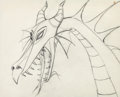Animation Art:Production Drawing, Sleeping Beauty Maleficent as Dragon Animation Drawing (WaltDisney, 1959)....