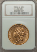 Liberty Double Eagles: , 1870-S $20 AU53 NGC. NGC Census: (214/617). PCGS Population (72/216). Mintage: 982,000. Numismedia Wsl. Price for problem f...