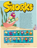 Animation Art:Presentation Cel, The Snorks Licensing Brochure and Press Kit Cel (Hanna-Barbera, 1986)....