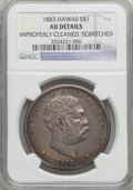 Coins of Hawaii: , 1883 $1 Hawaii Dollar -- Scratched, Improperly Cleaned -- NGCDetails. AU. NGC Census: (30/183). PCGS Population (64/201). ...