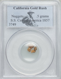 1857 S.S. Central America Gold Nuggets PCGS. 0.5 gm. Ex: Tuesday Internet Auction (Heritage, 5/2007), lot 137...(PCGS# 1...