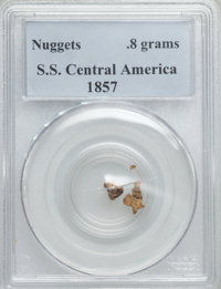 1857 S.S. Central America Gold Nuggets PCGS. 0.8 gm. From The Collection of Philip M. Peterson....(PCGS# 10365)