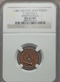 Civil War Patriotics, 1863 Union For Ever MS64 Brown NGC, Fuld-6/268a; Undated UnionShield MS65 Brown NGC, Fuld-163/352a; 1863 Union For Ever MS65 ...(Total: 4 tokens)