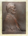 Lincoln, 1907 Abraham Lincoln Bronze Plaque by Victor D. Brenner....