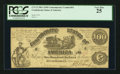 Confederate Notes:1861 Issues, Fully Framed CT13 $100 1861.. ...