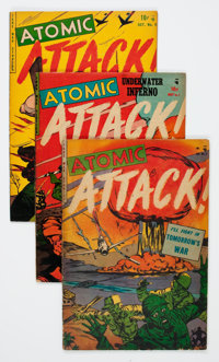Atomic Attack #5, 7, and 8 Group (Youthful Magazines, 1953).... (Total: 3 Comic Books)