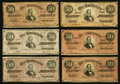 Confederate Notes:1864 Issues, T66 $50 1864 Seventeen Examples.. ... (Total: 17 notes)