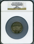 Expositions and Fairs, 1876 Centennial Exhibition, Declaration of Independence, MS61 NGC.White metal, 51mm....