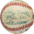 Baseball Collectibles:Balls, 1980's 500 Home Run Club Multi Signed Baseball. ...