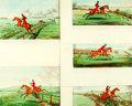 Books:Prints & Leaves, [Fox Hunting.] Group of Five Hand-Colored Prints Depicting FoxHunting. H. Humphrey, 1811. Plates numbered 1-4 and 6....