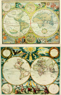 Books:Maps & Atlases, [Maps]. Pair of Reproduction World Map Prints. Various publishers and dates. Including: A New and Accurat Map of the World...