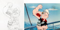 Animation Art:Limited Edition Cel, Dynamite Muscle Popeye Signed Numbered Limited Edition Celand Illustration Original Art Group (Fleischer, c. 1990s)....(Total: 2 Original Art)