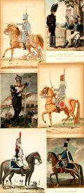 Books:Prints & Leaves, [French Military.] Group of Forty-Seven Color Prints DepictingFrench Soldiers, from Carnet de la Sabretache. P...
