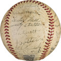 Baseball Collectibles:Balls, 1941 Chicago White Sox & Pittsburgh Pirates Multi Signed Baseball with Wagner & Frisch....