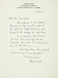 "Autographs:Authors, Ogden Nash Autograph Letter Signed on the poet's personalletterhead. One page, 7.25"" x 10.5"", North Hampton, NewHampshire,..."