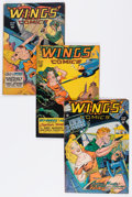 Golden Age (1938-1955):War, Wings Comics Group (Fiction House, 1947-54).... (Total: 7 ComicBooks)