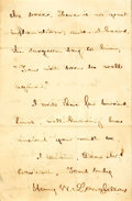 Autographs:Authors, Henry Wadsworth Longfellow Autograph Letter Signed. Four pages of abifolium, Washington, December 6, 1863, regarding the wo...