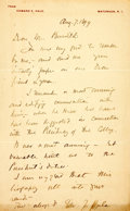 "Autographs:Authors, Edward E. Hale Autograph Letter Signed. One page, 5.25"" x 8"",Natunuck, Rhode Island, August 7, 1899, on personal stationery..."