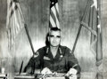 """Autographs:Military Figures, General Westmoreland Photograph Signed """"W. C. Westmoreland."""" 10"""" x 7.5"""", 1960s, featuring the general in uniform sitting..."""