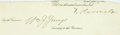 """Autographs:U.S. Presidents, Theodore Roosevelt Clipped Signature. Removed from a largerdocument to a size of 10"""" x 3.75"""", Roosevelt signs """"T.Rooseve..."""
