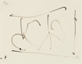 Fine Art - Work on Paper:Drawing, ROBERT MOTHERWELL (American, 1915-1991). Dedalus Sketchbook:Untitled, 1982. Sepia ink on Strathmore paper. 6 x 7-3/4 in...