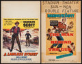 "Movie Posters:Western, A Lawless Street & Other Lot (Columbia, 1955). Window Cards (2) (14"" X 22""). Western.. ... (Total: 2 Items)"