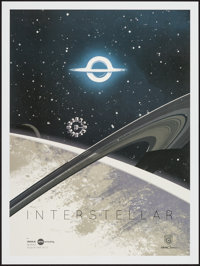 """Interstellar (Paramount, 2014). IMAX Exclusive Poster (12"""" X 16"""") Black Hole Style. Science Fiction"""