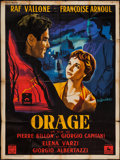 """Movie Posters:Foreign, Storm (Cocinor, 1954). French Grande (47"""" X 63""""). Foreign.. ..."""